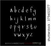 alphabet   number   handwriting ... | Shutterstock .eps vector #375602377
