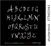 alphabet   number   handwriting ... | Shutterstock .eps vector #375602461