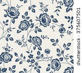 seamless pattern with roses.... | Shutterstock .eps vector #375607501