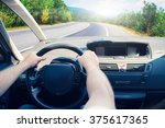 blurred road and car  speed... | Shutterstock . vector #375617365