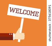 business concept  welcome. | Shutterstock .eps vector #375618091