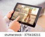 fashion blog   website on... | Shutterstock . vector #375618211