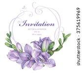 frame for wedding invitation... | Shutterstock .eps vector #375619969