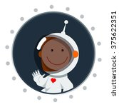 cute flat style astronaut with... | Shutterstock .eps vector #375622351