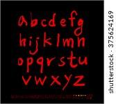 alphabet   number   handwriting ... | Shutterstock .eps vector #375624169