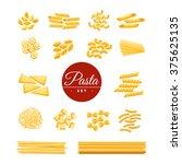 italian traditional cuisine dry ... | Shutterstock .eps vector #375625135