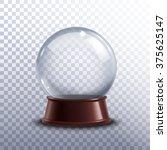 realisitc 3d snow globe toy... | Shutterstock .eps vector #375625147