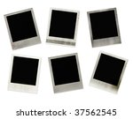 set of 6 photo frames with... | Shutterstock . vector #37562545