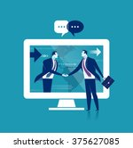 global business.business... | Shutterstock .eps vector #375627085
