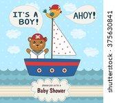 cute baby shower invitation... | Shutterstock .eps vector #375630841