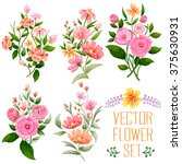 illustration of watercolor... | Shutterstock .eps vector #375630931