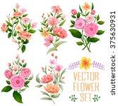 illustration of watercolor... | Shutterstock .eps vector #375630931