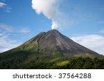 arenal volcano in costa rica...   Shutterstock . vector #37564288