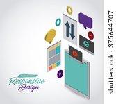 isometric responsive  icon... | Shutterstock .eps vector #375644707