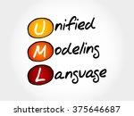 uml   unified modeling language ... | Shutterstock .eps vector #375646687