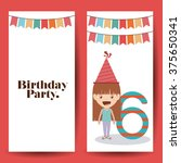 birthday party design  | Shutterstock .eps vector #375650341