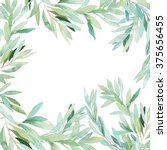 watercolor floral frame card.... | Shutterstock . vector #375656455