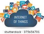 internet of things concept and... | Shutterstock .eps vector #375656701