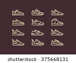 set of line icons sneakers | Shutterstock .eps vector #375668131