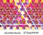 colorful mosaic illustration... | Shutterstock . vector #375669949