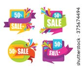 vector collection of bright... | Shutterstock .eps vector #375674494
