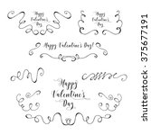 vector collection of hand drawn ... | Shutterstock .eps vector #375677191