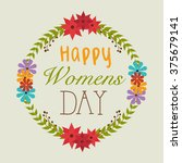 happy womens day design  | Shutterstock .eps vector #375679141