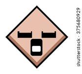 diamond 2d shape with face... | Shutterstock .eps vector #375680929