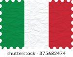 wrinkled paper italy stamp ... | Shutterstock .eps vector #375682474