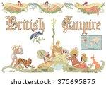 vector british empire in... | Shutterstock .eps vector #375695875