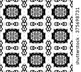 ethnic aztec pattern. striped... | Shutterstock .eps vector #375698731