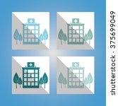 hospital medical center design  | Shutterstock .eps vector #375699049
