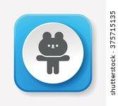 rabbit doll icon   Shutterstock .eps vector #375715135