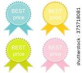 best price  button set in... | Shutterstock .eps vector #375718081