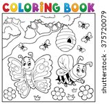 coloring book with butterfly... | Shutterstock .eps vector #375720079