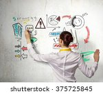 her marketing strategy | Shutterstock . vector #375725845
