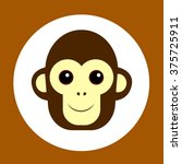 monkey flat icon | Shutterstock .eps vector #375725911