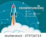 crowdfunding design and concept ... | Shutterstock .eps vector #375726715