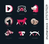 set of logotypes with dogs. dog ... | Shutterstock .eps vector #375737029