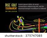 disc golf sport  flying disc... | Shutterstock .eps vector #375747085