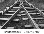 Two Railway Tracks Merge