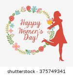 happy womens day design  | Shutterstock .eps vector #375749341
