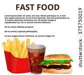 fast food menu  | Shutterstock .eps vector #375750019