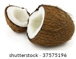 Sweet and tasty coconut - stock photo