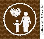 happy mothers day | Shutterstock .eps vector #375758467