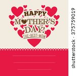 happy mothers day | Shutterstock .eps vector #375759019