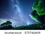 the milky way and some trees.... | Shutterstock . vector #375760609
