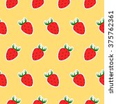 colorful strawberry pattern....   Shutterstock .eps vector #375762361