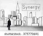 synergy team interaction... | Shutterstock . vector #375770641