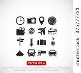 travel icons set | Shutterstock .eps vector #375777721
